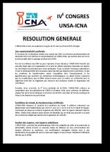 Résolution Générale du 4e Congrès de l'UNSA-ICNA