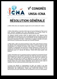 Résolution Générale du 5e Congrès de l'UNSA-ICNA