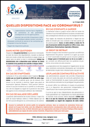 Quelles dispositions face au coronavirus ?