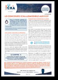 Le concours ICNA admissible aux CCP