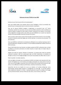 Déclaration liminaire CT/GSO 4 mars 2016