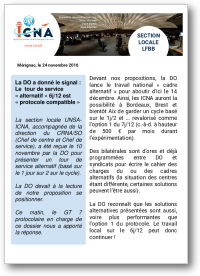 La DO a donné le signal : Le  tour de service « alternatif » 6j/12 est « protocole compatible »