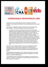 Communiqué intersyndical LFBO