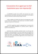 Tract intersyndical suite à convocation d'un agent par le chef Exploitation pour non présentation en CLS