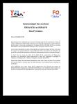 Communiqué local UNSA ICNA / SNNA FO concernant le vote sur la mise en oeuvre de l'organisme Pyrénées
