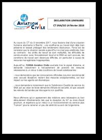 DECLARATION LIMINAIRE CT SNA/SO 14 février 2019