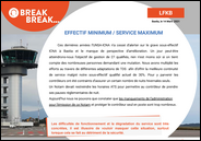 Effectif minimum / Service Maximum