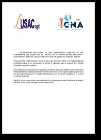 Communiqué UNSA-ICNA/USAC-CGT