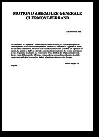 Motion d'AG des contrôleurs de LFLC