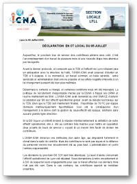 Déclaration liminaire en CT du 05 Juillet 2018