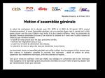 Motion d'AG des personnels de Marseille