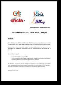 Motion d'Assemblée Générale ICNA