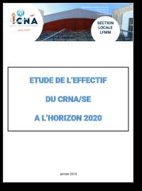 Étude de l'effectif du CRNA/SE à l'horizon 2020