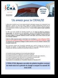 Un avenir pour le CRNA/SE