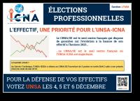 L'effectif, une priorité pour l'UNSA-ICNA