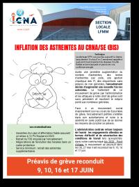 Inflation des astreintes au CRNA/SE (BIS)