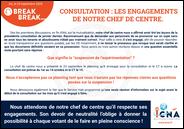 Consultation: les engagements de notre chef de centre
