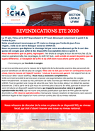 Revendications été 2020