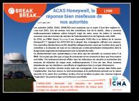 ACAS Honeywell, la réponse bien mielleuse de nos autorités