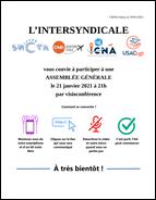 AG de l'intersyndicale 21/01/21 à 21h
