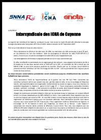 Communiqué Intersyndical: Dernière sommation