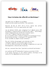 Stop à la baisse des effectifs en Martinique !